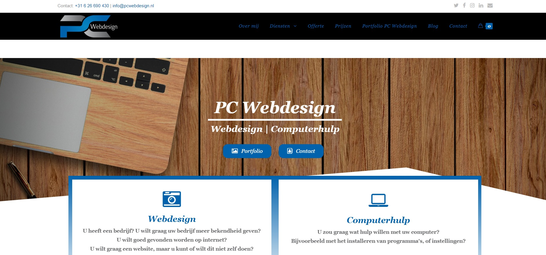 Nieuwe website PC Webdesign